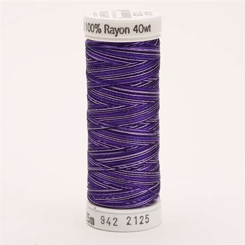 Sulky 40 wt 250 Yard Rayon Thread - 942-2125 - Royal Purples Var