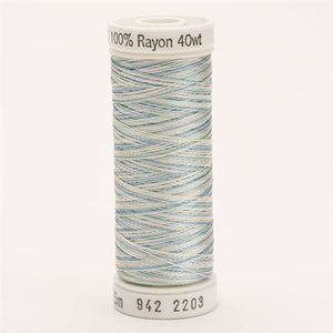 Sulky 40 wt 250 Yard Rayon Thread - 942-2203 - Baby Pink/Mint/Blue