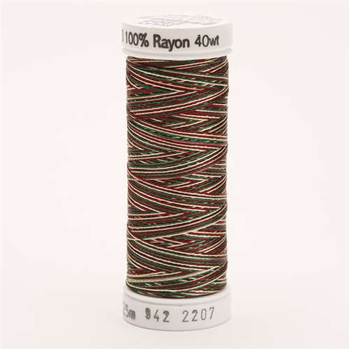 Sulky 40 wt 250 Yard Rayon Thread - 942-2207 - Green/Burg/Tan