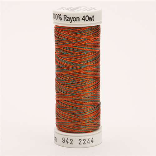 Sulky 40 wt 250 Yard Rayon Thread - 942-2244 - Coral/Brown/Teal