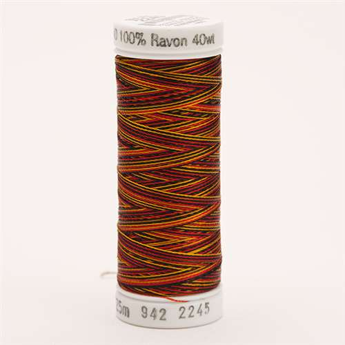Sulky 40 wt 250 Yard Rayon Thread - 942-2245 - Old Gold/Black/Red