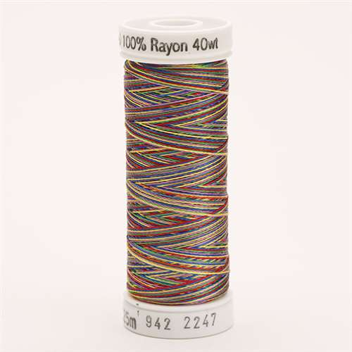 Sulky 40 wt 250 Yard Rayon Thread - 942-2247 - Blue/Lav/Red/Yel/Grn