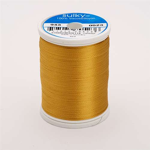 Sulky 40 wt 850 Yard Rayon Thread - 943-0523 - Autumn Gold