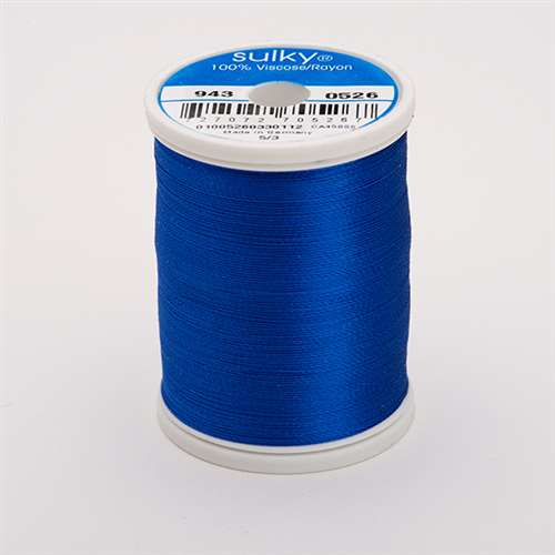 Sulky 40 wt 850 Yard Rayon Thread - 943-0526 - Cobolt Blue