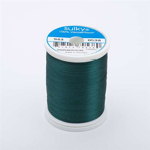 Sulky 40 wt 850 Yard Rayon Thread - 943-0538 - Forest Green