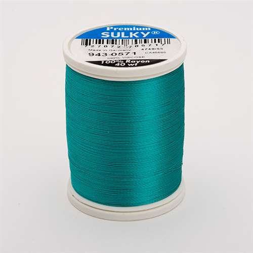 Sulky 40 wt 850 Yard Rayon Thread - 943-0571 - Deep Aqua
