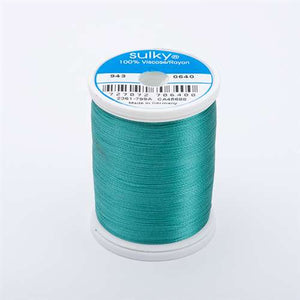 Sulky 40 wt 850 Yard Rayon Thread - 943-0640 - Medium Aqua