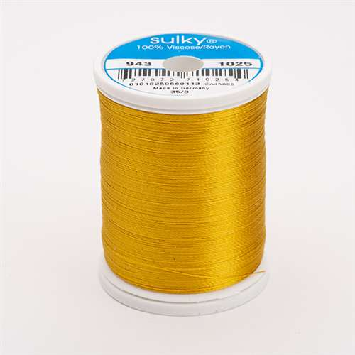 Sulky 40 wt 850 Yard Rayon Thread - 943-1025 - Mine Gold