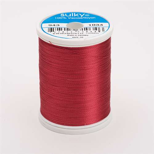 Sulky 40 wt 850 Yard Rayon Thread - 943-1034 - Burgundy