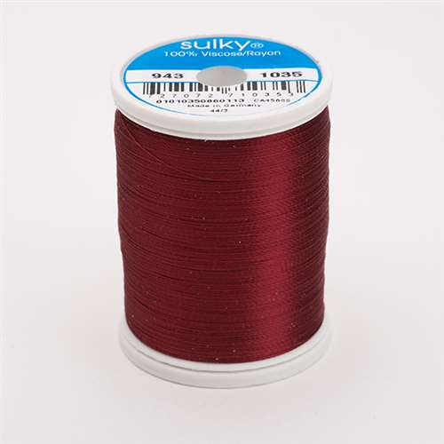 Sulky 40 wt 850 Yard Rayon Thread - 943-1035 - ark Burgundy