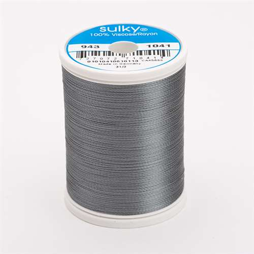 Sulky 40 wt 850 Yard Rayon Thread - 943-1041 - Medium Dark Grey
