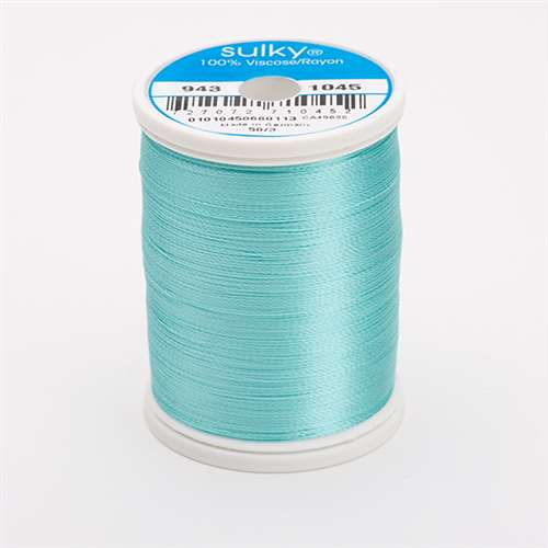 Sulky 40 wt 850 Yard Rayon Thread - 943-1045 - Light Teal