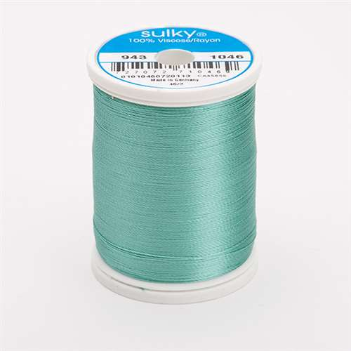 Sulky 40 wt 850 Yard Rayon Thread - 943-1046 - Teal