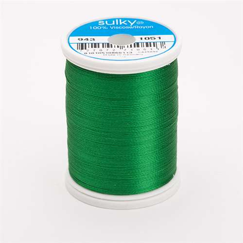 Sulky 40 wt 850 Yard Rayon Thread - 943-1051 - Xmas Green