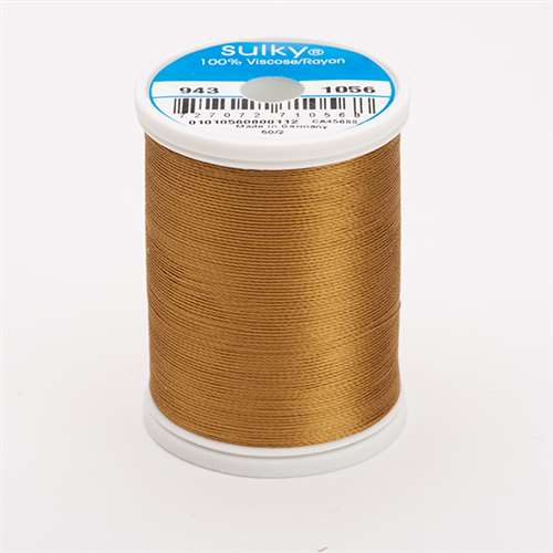Sulky 40 wt 850 Yard Rayon Thread - 943-1056 - Medium Tawny Tan