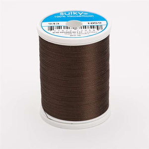 Sulky 40 wt 850 Yard Rayon Thread - 943-1059 - Dark Tawny Brown