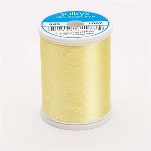 Sulky 40 wt 850 Yard Rayon Thread - 943-1067 - Lemon Yellow