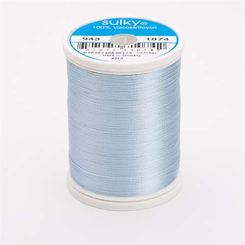 Sulky 40 wt 850 Yard Rayon Thread - 943-1074 - Powder Blue