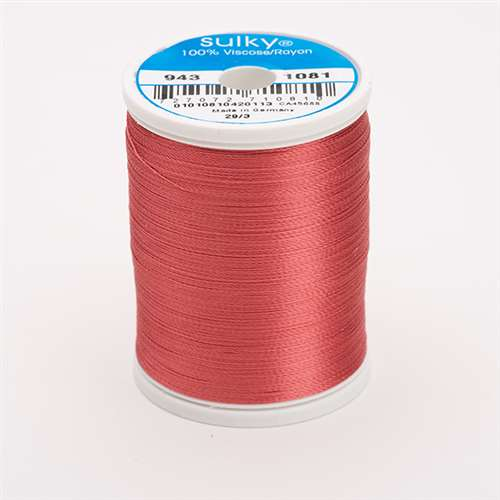 Sulky 40 wt 850 Yard Rayon Thread - 943-1081 - Brick