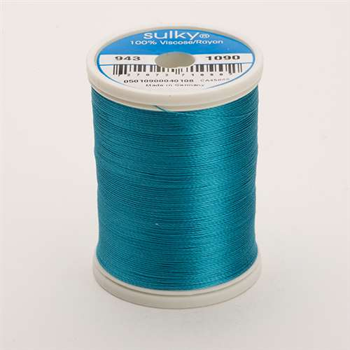 Sulky 40 wt 850 Yard Rayon Thread - 943-1090 - Deep Peacock