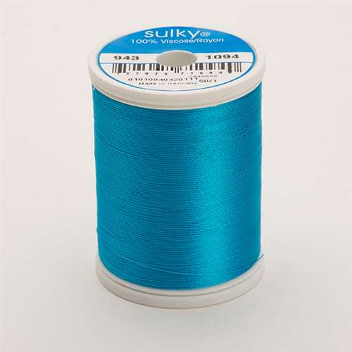 Sulky 40 wt 850 Yard Rayon Thread - 943-1094 - Medium Turquoise