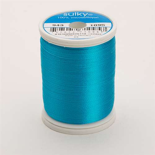Sulky 40 wt 850 Yard Rayon Thread - 943-1095 - Turquoise