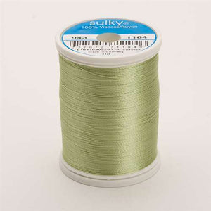Sulky 40 wt 850 Yard Rayon Thread - 943-1104 - Pastel Yellow/green