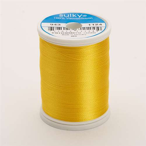 Sulky 40 wt 850 Yard Rayon Thread - 943-1124 - Sun Yellow