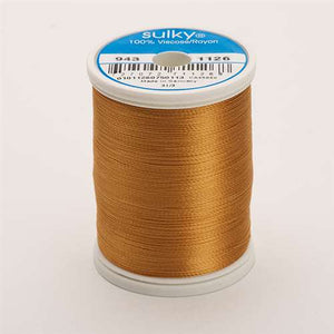 Sulky 40 wt 850 Yard Rayon Thread - 943-1126 - Tan