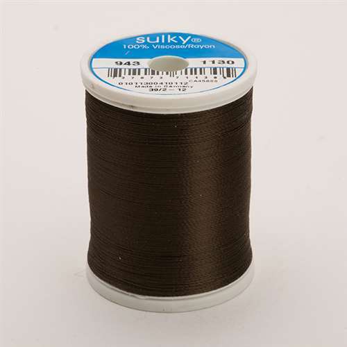 Sulky 40 wt 850 Yard Rayon Thread - 943-1130 - Dark Brown