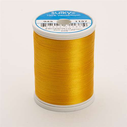 Sulky 40 wt 850 Yard Rayon Thread - 943-1137 - Yellow orange