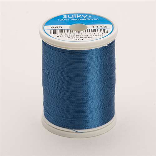 Sulky 40 wt 850 Yard Rayon Thread - 943-1143 - True Blue