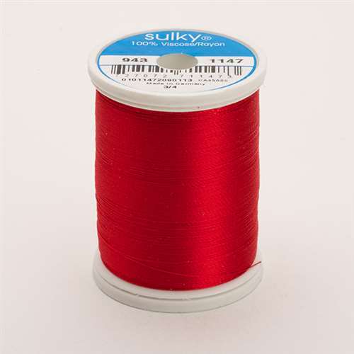 Sulky 40 wt 850 Yard Rayon Thread - 943-1147 - Xmas Red