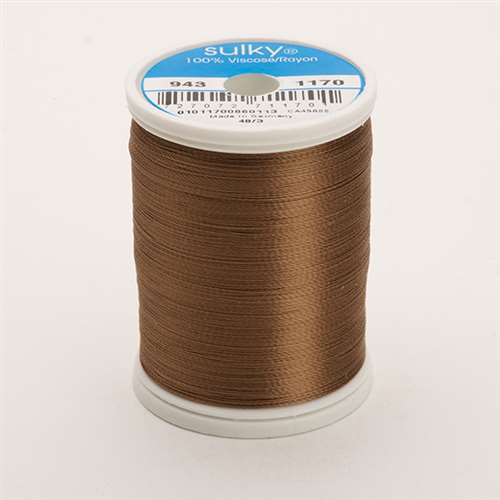 Sulky 40 wt 850 Yard Rayon Thread - 943-1170 - Lt Brown