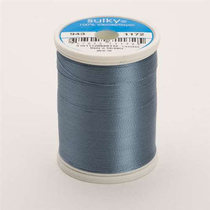 Sulky 40 wt 850 Yard Rayon Thread - 943-1172 - Med Weathered Blue