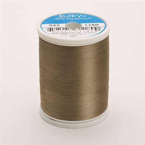 Sulky 40 wt 850 Yard Rayon Thread - 943-1180 - Med Taupe