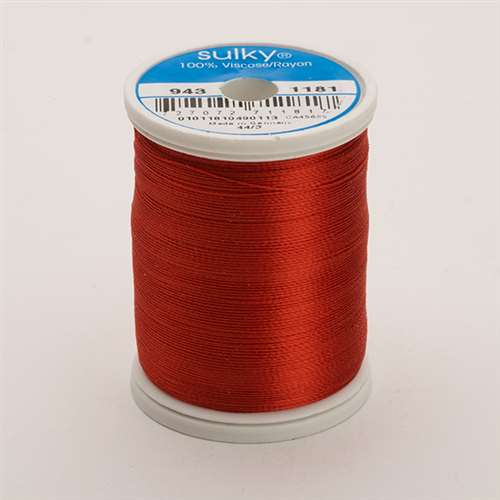 Sulky 40 wt 850 Yard Rayon Thread - 943-1181 - Rust