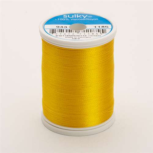 Sulky 40 wt 850 Yard Rayon Thread - 943-1185 - Golden Yellow