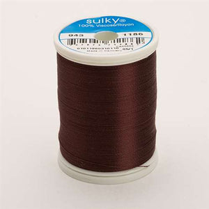 Sulky 40 wt 850 Yard Rayon Thread - 943-1186 - Sable Brown