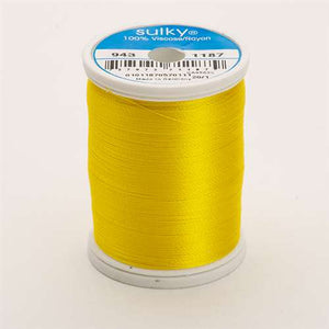 Sulky 40 wt 850 Yard Rayon Thread - 943-1187 - Mimosa Yellow