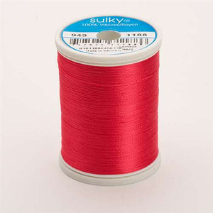 Sulky 40 wt 850 Yard Rayon Thread - 943-1188 - Red Geranium