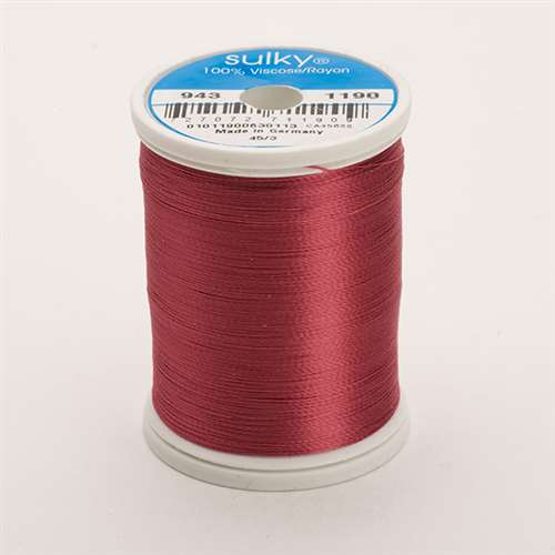 Sulky 40 wt 850 Yard Rayon Thread - 943-1190 - Med. Burgundy