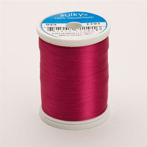 Sulky 40 wt 850 Yard Rayon Thread - 943-1191 - Dark Rose