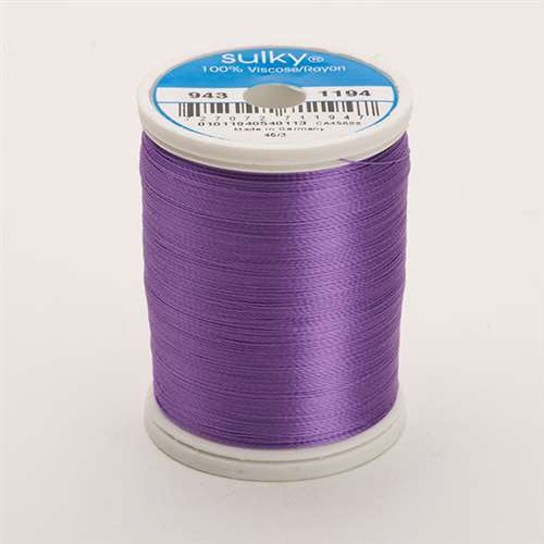 Sulky 40 wt 850 Yard Rayon Thread - 943-1194 - Lt Purple