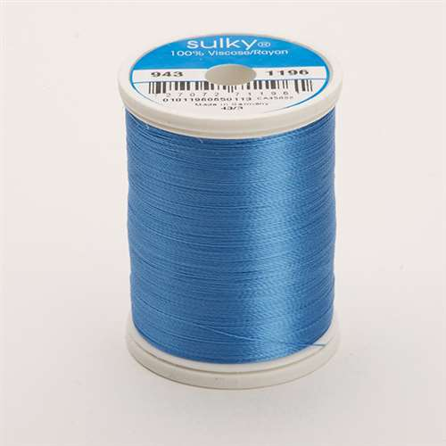 Sulky 40 wt 850 Yard Rayon Thread - 943-1196 - Blue