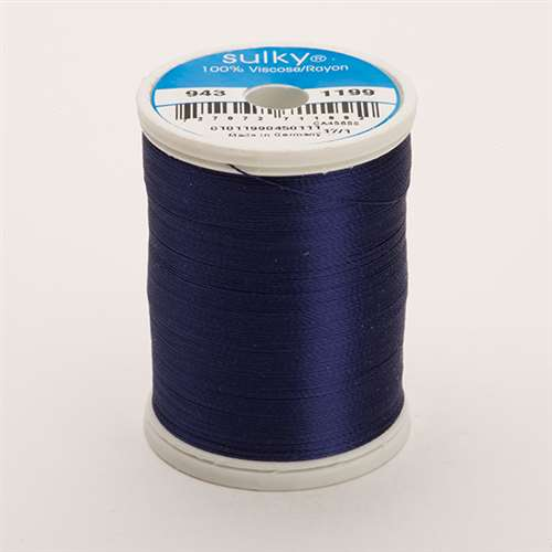Sulky 40 wt 850 Yard Rayon Thread - 943-1199 - Admiral Navy Blue