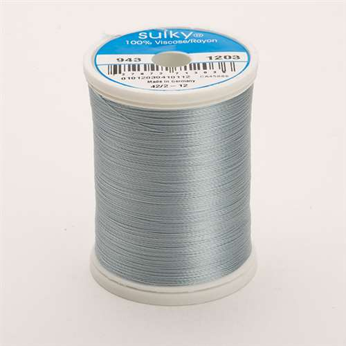 Sulky 40 wt 850 Yard Rayon Thread - 943-1203 - Lt Weathered Blue