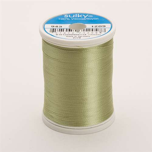 Sulky 40 wt 850 Yard Rayon Thread - 943-1209 - Lt Avocado