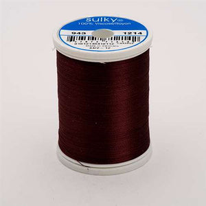 Sulky 40 wt 850 Yard Rayon Thread - 943-1214 - d. Chestnut