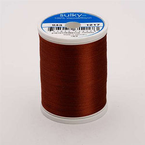 Sulky 40 wt 850 Yard Rayon Thread - 943-1217 - Chestnut